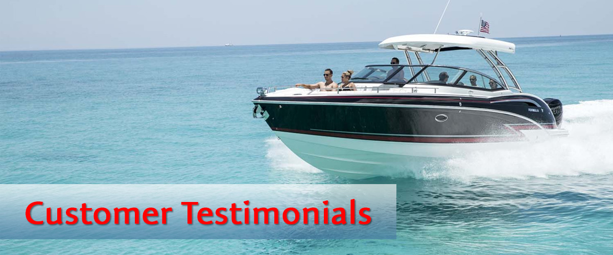 Customer Reviews - Grand Lake Boat Sales